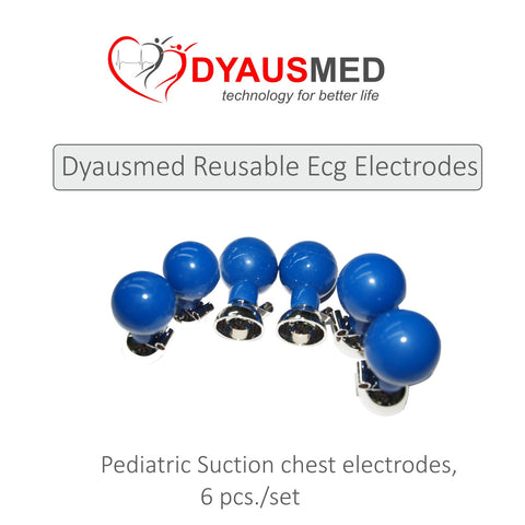 COMPATIBLE PEDIATRIC SUCTION CHEST ELECTRODE (6PCS/SET) - Scorpiamedimart