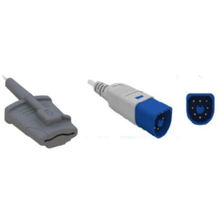 Adult Soft Finger SpO2 Sensor (Philips - Nellcor compatible, 3.0 mtr length) RAS/HPS-L - Scorpiamedimart