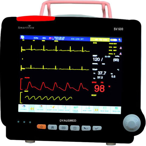 DYAUSMED SV600 NEONATE PATIENT MONITOR (ECG,RESPIRATION,NIBP,SPO2,TEMPERATURE) - Scorpiamedimart