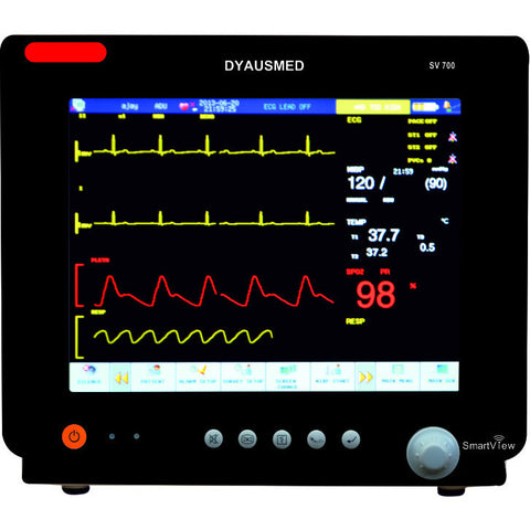 DYAUSMED SV700 CARDIAC PATIENT MONITOR (ECG,RESPIRATION,NIBP,SPO2,TEMPERATURE) - Scorpiamedimart