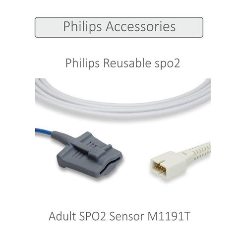 PHILIPS REUSABLE ADULT FINGER SPO2 SENSOR (M1191T) - Scorpiamedimart