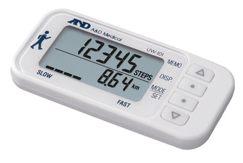 AND 3-AXIS DIGITAL PEDOMETER UW-101 WHITE - Scorpiamedimart
