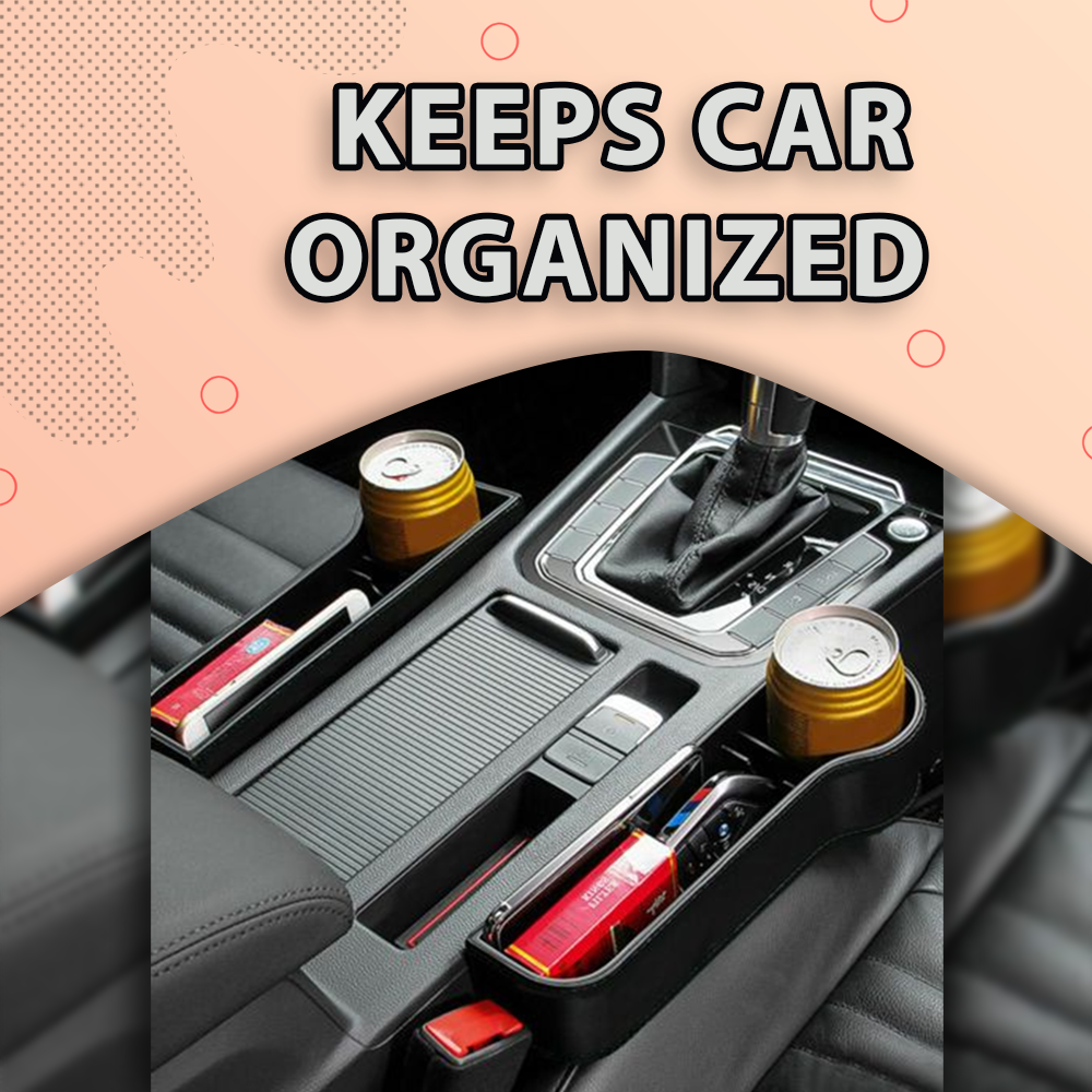 Car Seat Gap Storage Box Car Seat Clipped Storage Box Water Cup Holder Mobile Phone Holder Multifunctional Car Supplies