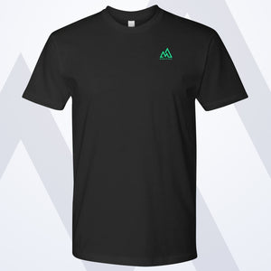 MM Signature Emblem Men's Tee - Black & Green