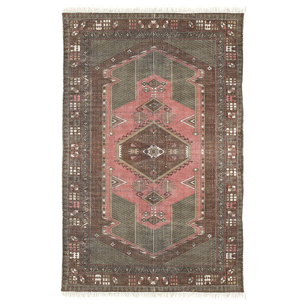 Vloerkleed printed cotton rug stonewashed - Valeur home Decoration