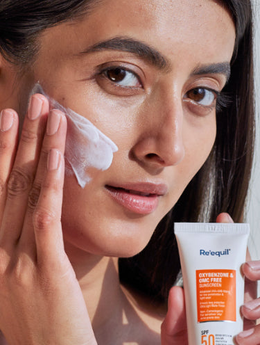 Re'equil Oxybenzone Free Sunscreen Spf 50 For Oily, Acne Prone Skin