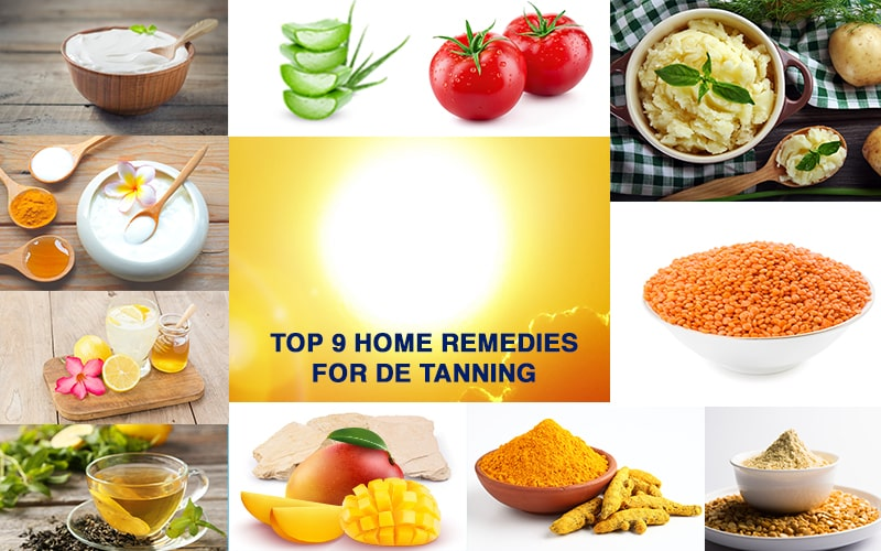 Top 9 home remedies for skin tanning