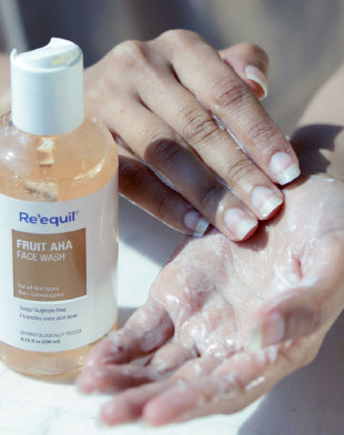 fruit aha face wash by reequil how it feels and what is the texture like