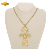 Collier Croix Ankh Or