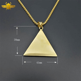 Amulette Pyramide Or
