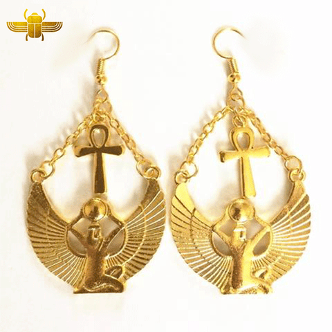 Boucle d'Oreille Ankh Or