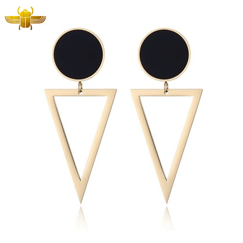 Boucle d'Oreille Triangle Or
