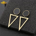 Boucles d'Oreille Triangle Or