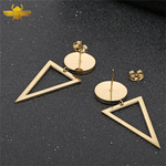 Boucle d'Oreilles Triangle Or