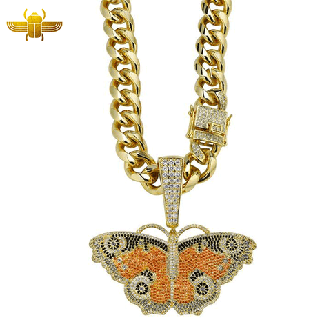 Collier Papillon Or