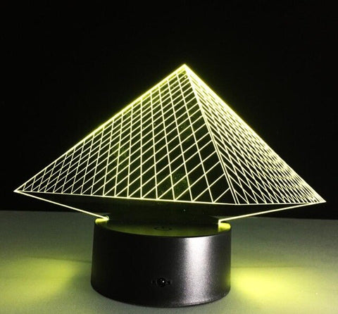 Lampe Égyptienne <br> Lampe 3D Pyramide