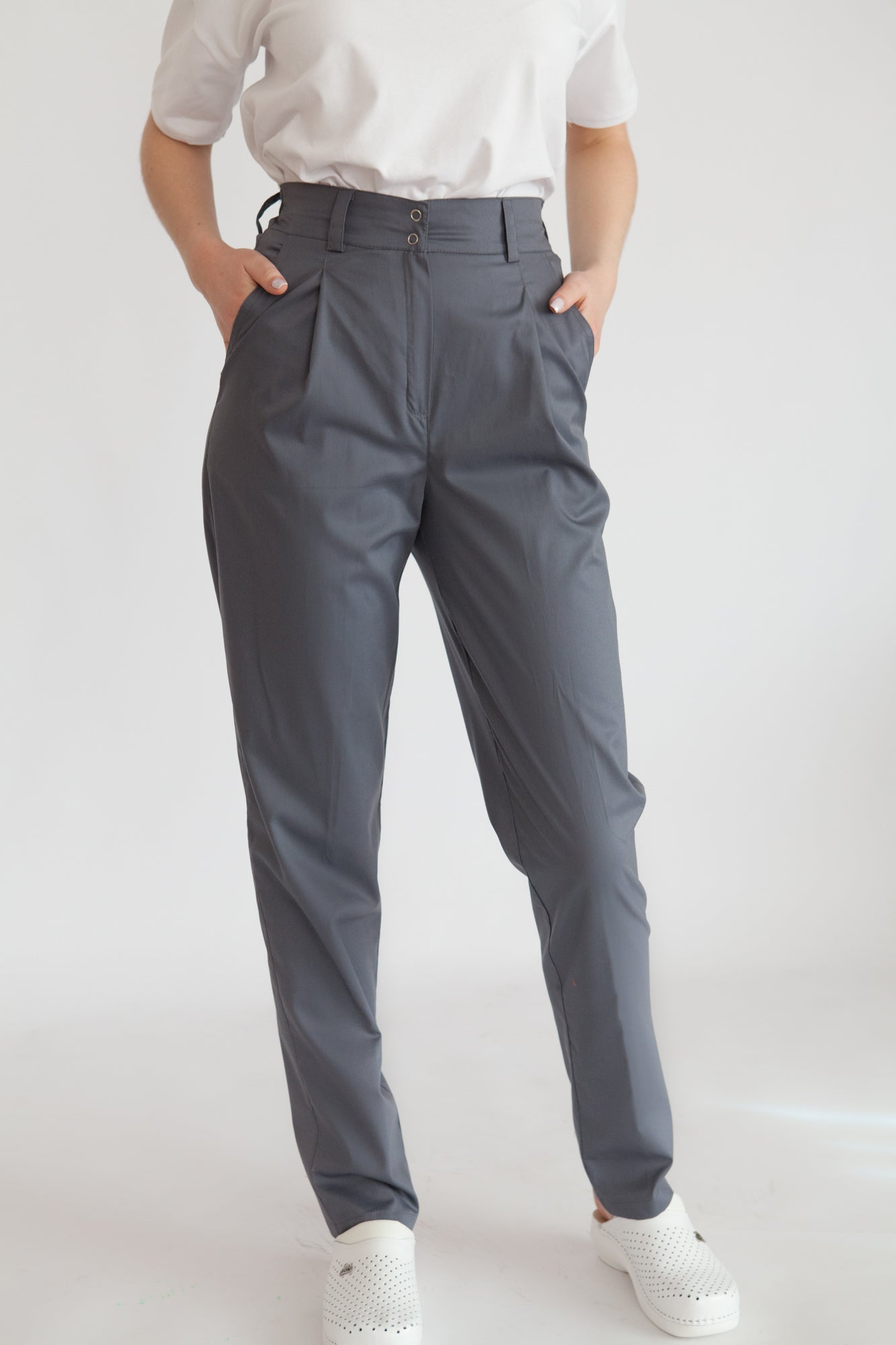 <transcy>Medical Trousers with Pintucks &quot;Slax&quot;</transcy>