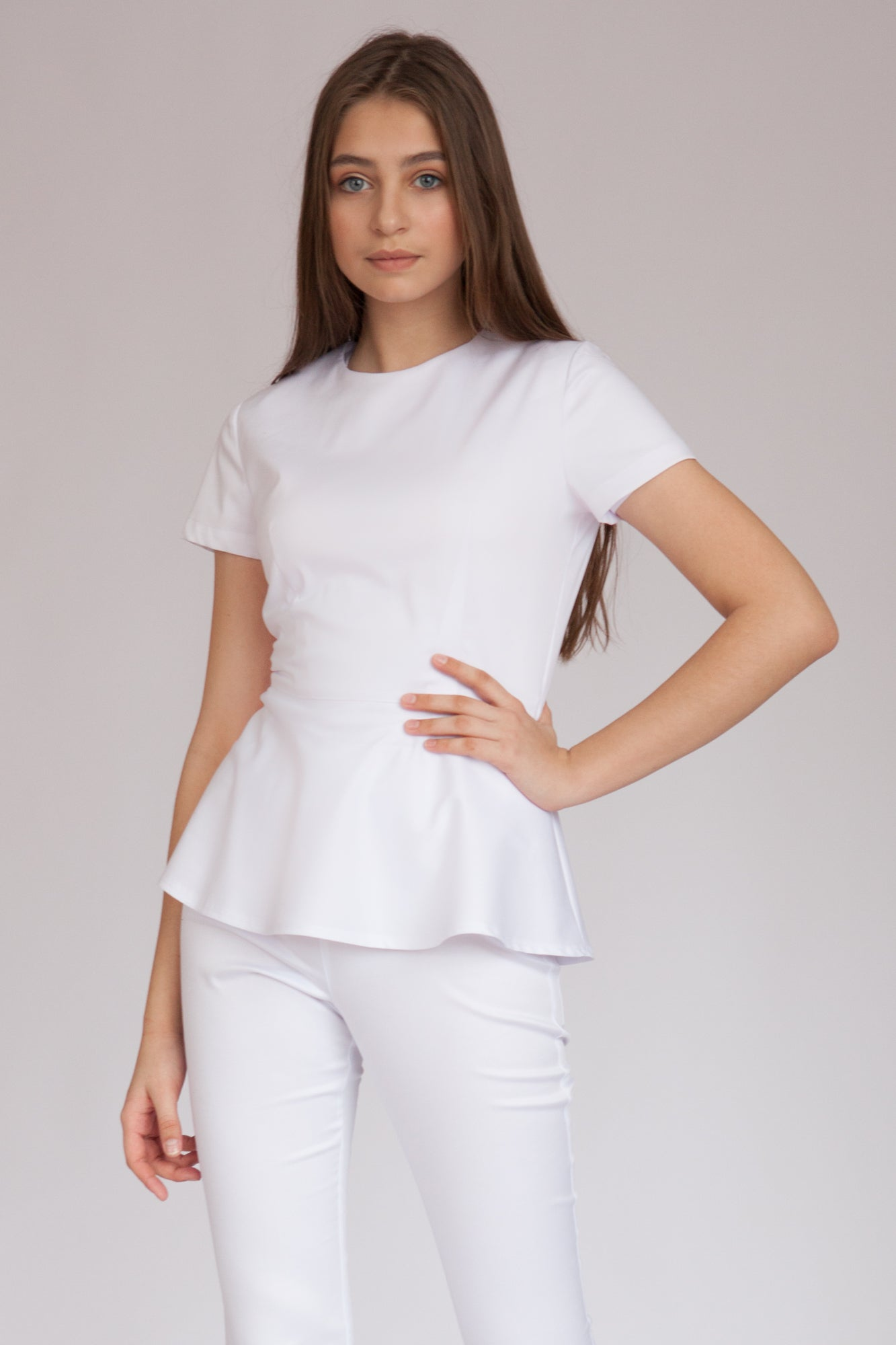 <transcy>Medical Blouse with Basque &quot;Sakura&quot;</transcy>