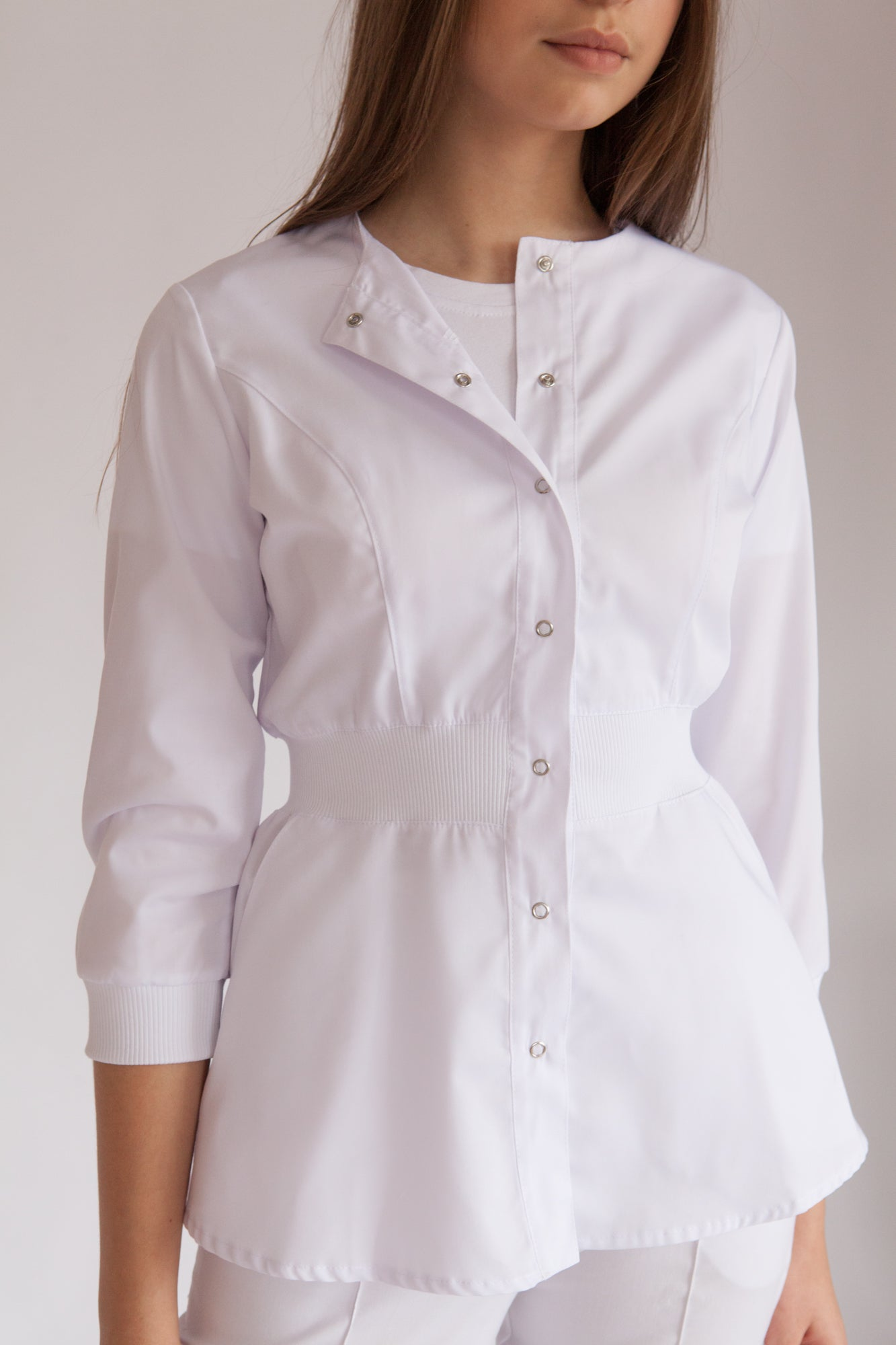 <transcy>Medical Jacket with buttons &quot;Comfort&quot;</transcy>