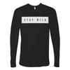 Stay Wild Black Logo L/S