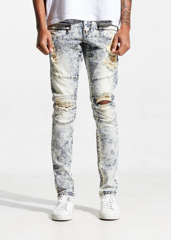 CRYSP Denim Blue Smoke Acid Wash Jeans