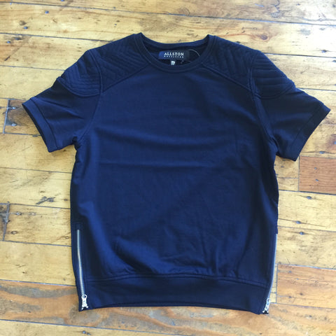 Allston Outfitters Quilted Shoulder Impact S/S Tee Black