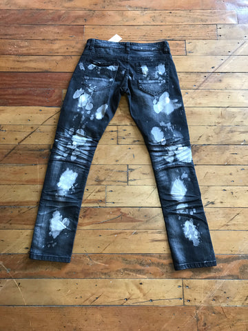 KiloGram Motor Bleach jeans Blk wash