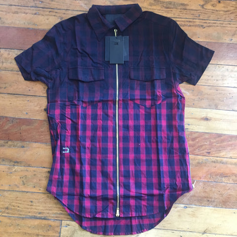 Damati longated plaid 3 layer tee