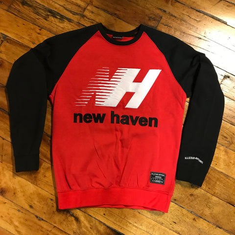 Allstar Apparel Co. Crewneck Red and Black