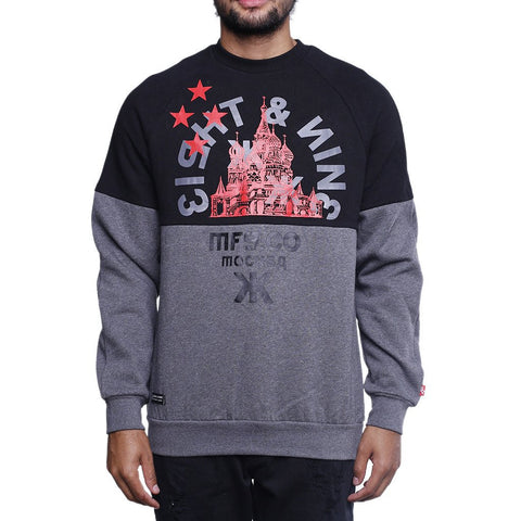 Eight and nine MOTHERLAND CREWNECK SWEATSHIRT BLACK