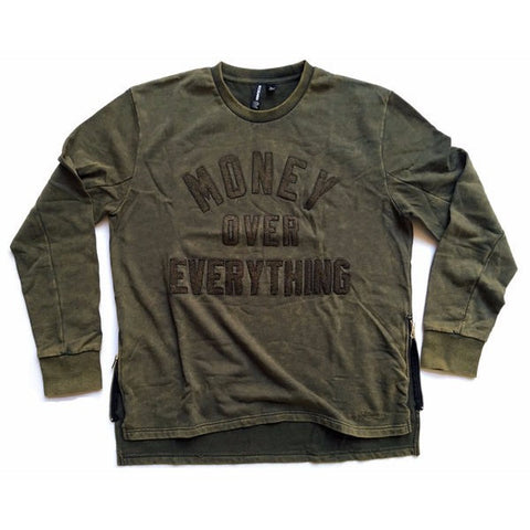 RockSmith Money Over Everything Crewneck Olive