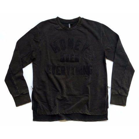 RockSmith Money Over Everything Crewneck Black