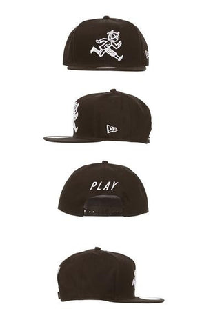 Play cloths brilliant snapback hat caviar
