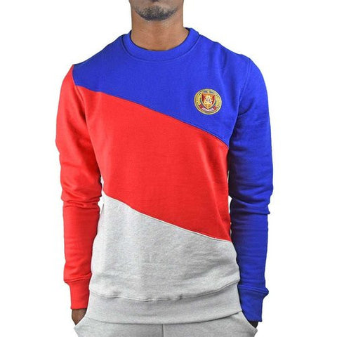 Alumnus Terry Crew Neck  Color Blocked