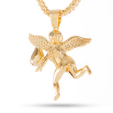 King Ice 14k Gold Hustle Daily Angel Necklace