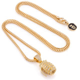 King Ice 14k hand grenade necklace
