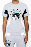 VieRiche Tom Cat Pouch Tee Gray