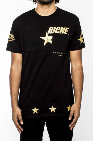 Vie Riche Start Pocket Tee Black/Gold