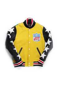 Joyrich Allstar Varsity Jacket Yellow with Green