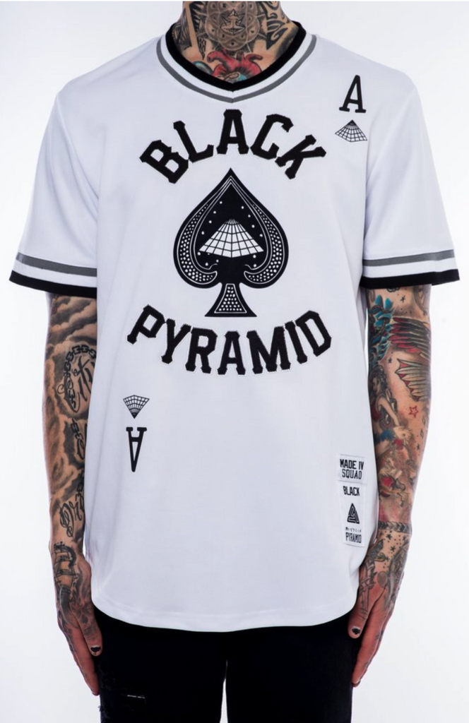 Black Pyramid On Deck White – Allstar Apparel