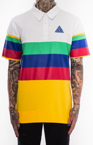 Black Pyramid Primary Colored Polo Multi Color