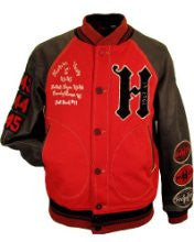 Hudson Outerwear Mens All American Wool And Leather Varsity Jacket
