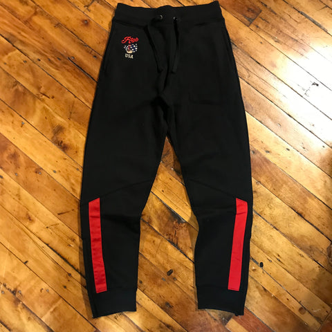 Red Tag Brand USA Teddy Sweatpants Black