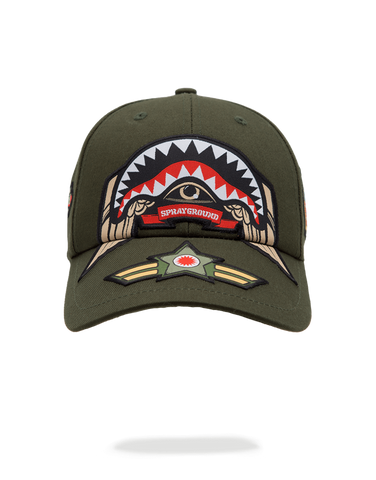 SprayGround Shark Army Patch Dad Hat