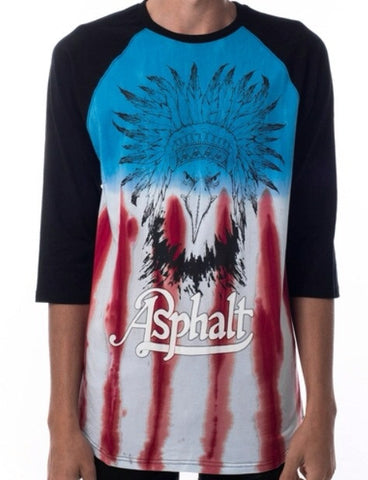 EAGLE HEADDRESS TIE DYE RAGLAN