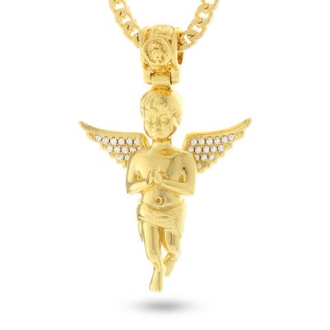 Gold Serenity Angel necklace