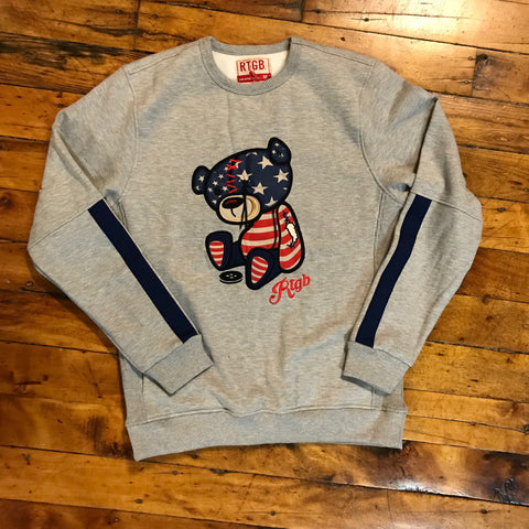 Red Tag Brand USA Teddy Sweatshirt Gray