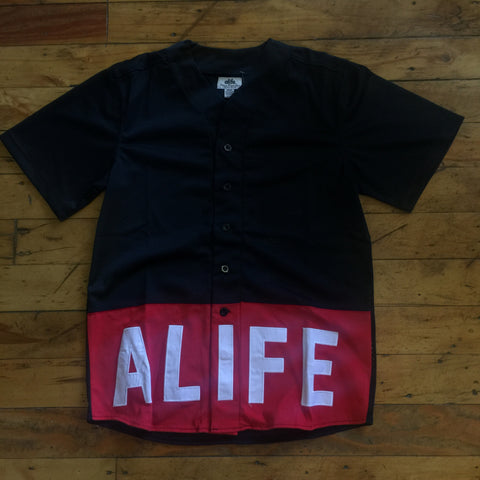 Alife Boxed Out Baseball Jersey In Black