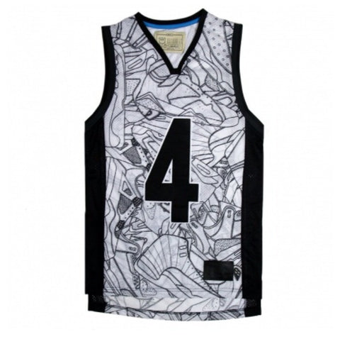 His AIRNESS white mesh tank