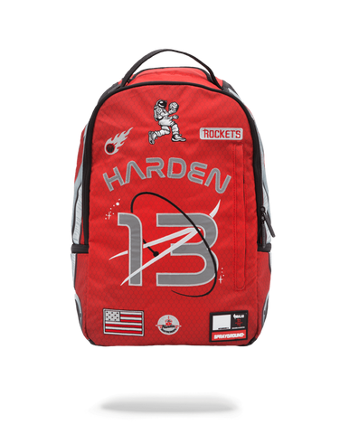 SprayGround NBA Lab Harden Rockets Patches Bookbag